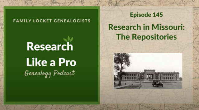 Graphic of Research Like a Pro Genealogy Podcast - Episode 145